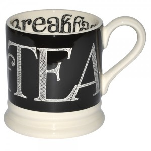 manly tea mug - Emma Bridgewater black hatch