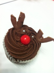 Christmas Afternoon Tea with Reindeer Cup Cakes